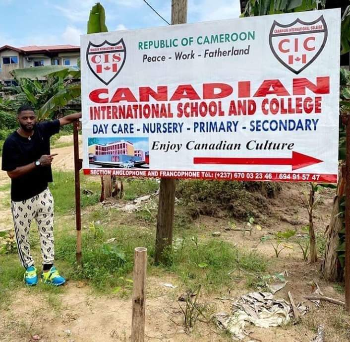 LEAD BY EXAMPLE!!ALEXANDRE SONG unveils his international school