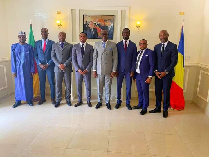 Samuel Eto'o received at the Presidency of Chad.