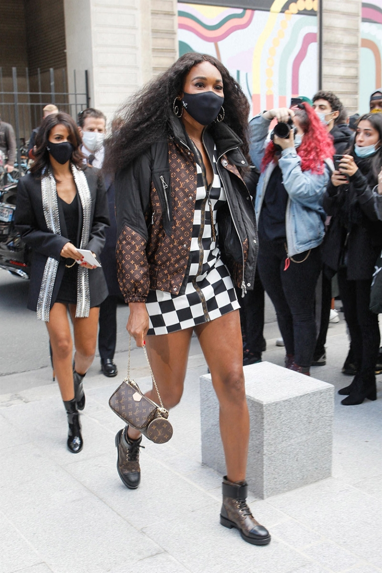 US tennis star Venus Williams at the Louis Vuitton Fashion Show