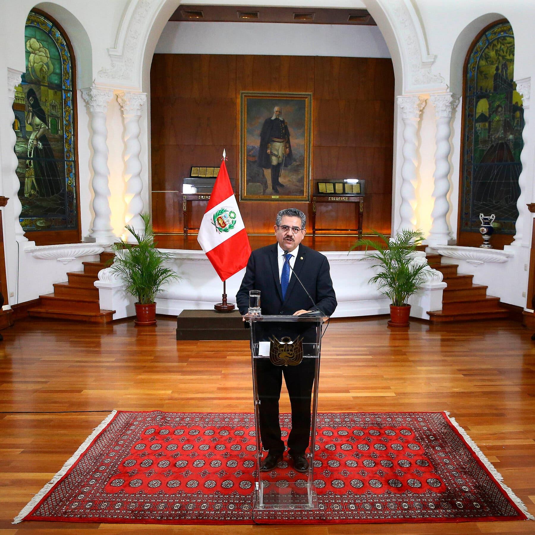 Peru interim president steps down after six days on the job