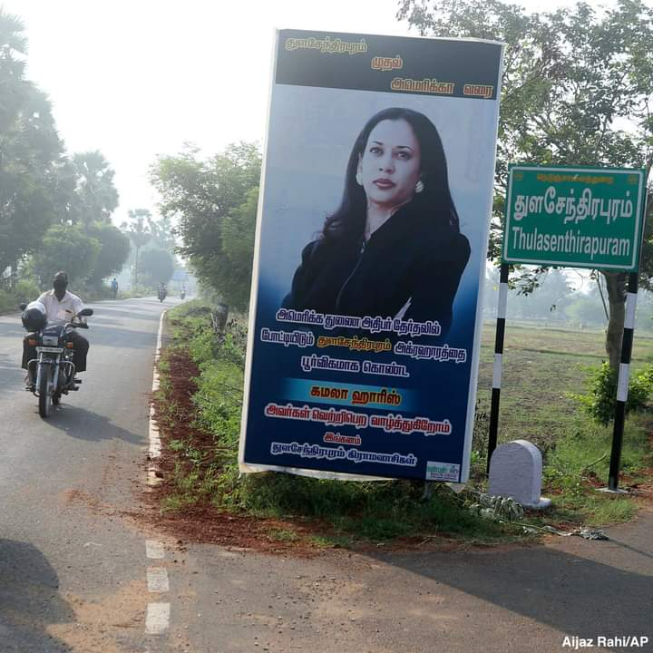India: Kamala Harris posters spring up in her ancestral village