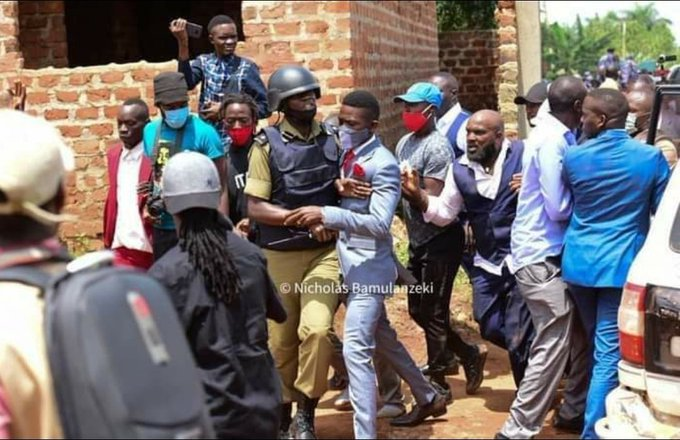 Ugandan opposition presidential candidate, Bobi Wine arrested
