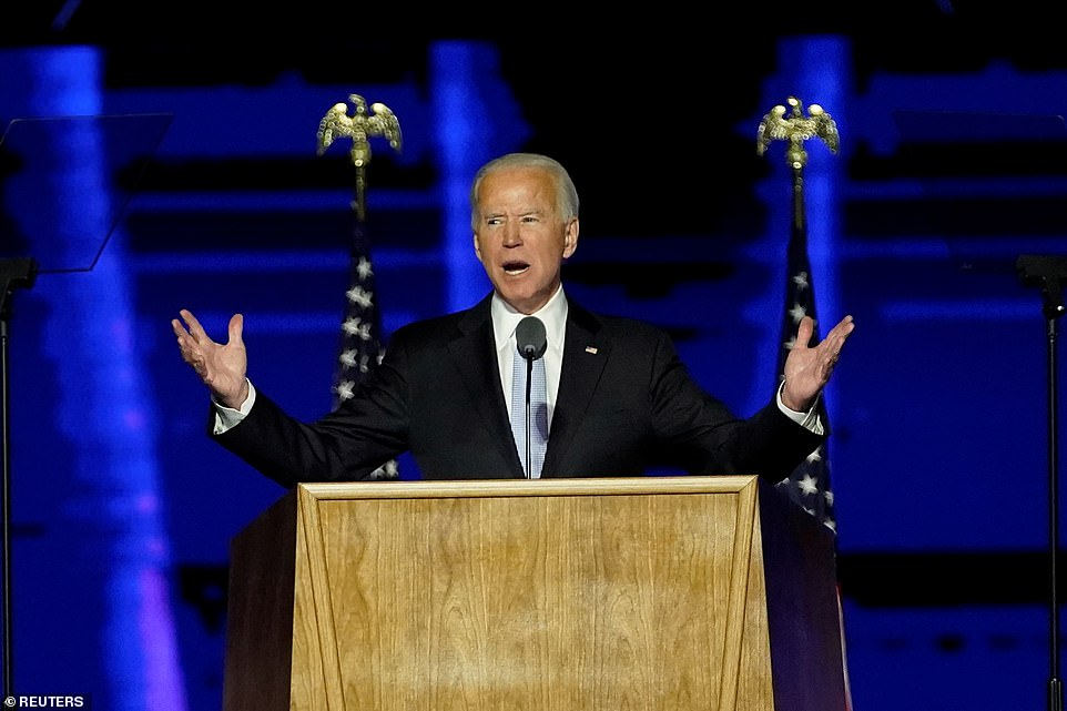 This is the time to heal in America president elect Joe Biden.
