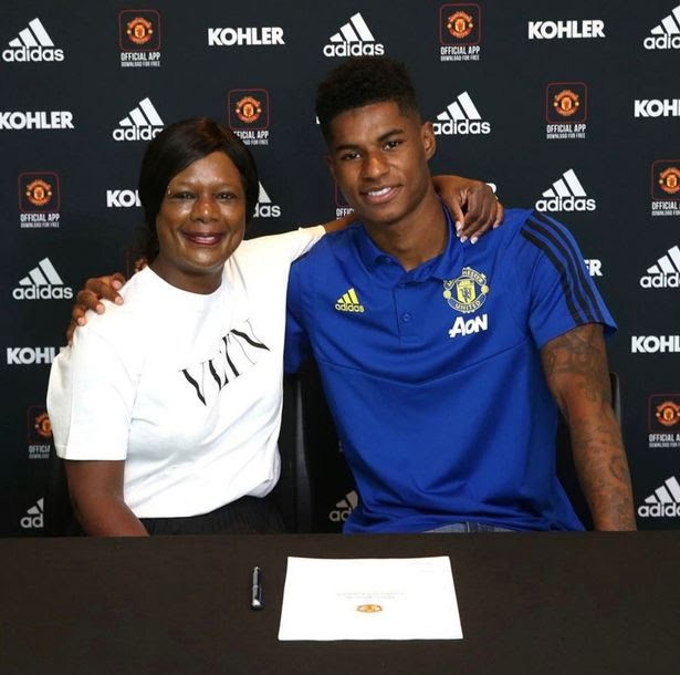 Manchester United forward Marcus Rashford's mother 'missed meals so her children could eat'