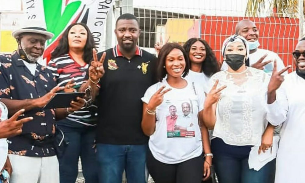 Ghanaian actor John Dumelo finally gets supports from his colleagues