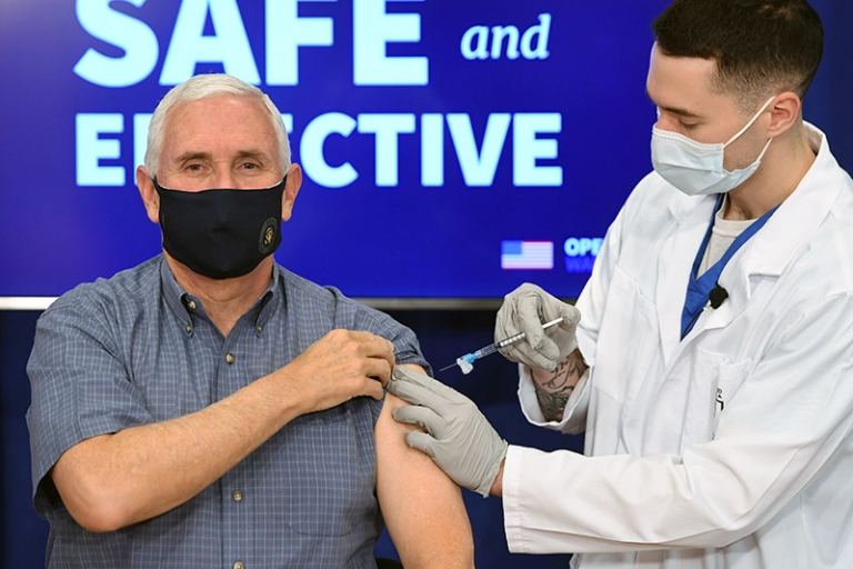 Vice President Mike Pence gets COVID-19 vaccine on live TV
