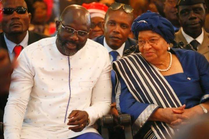 The Liberian President George Weah Fires Back At Former President Sirleaf Johnson