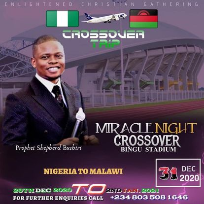 Prophet Bushiri's request to use Bingu National Stadium in Lilongwe Malawi for crossover event rejected