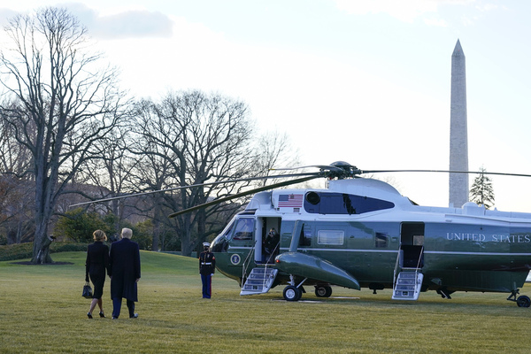 Donald Trump leaves White House for the last time as U.S. president