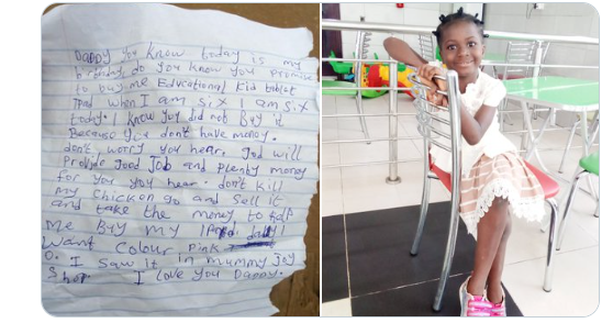 The Emotional Letter A 6-Year-Old Girl Left For Her Father