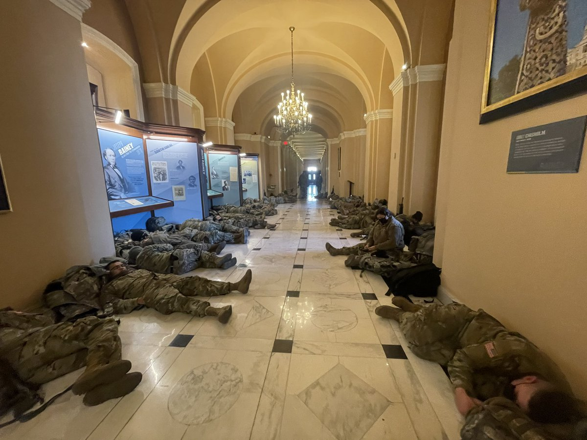 100s Of Troops Napping