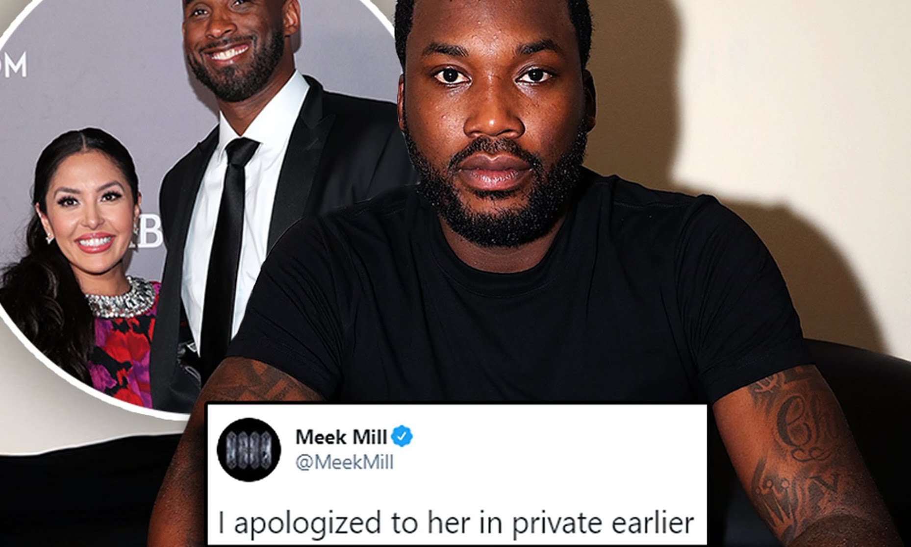 Meek Mill says he apologized to Vanessa Bryant