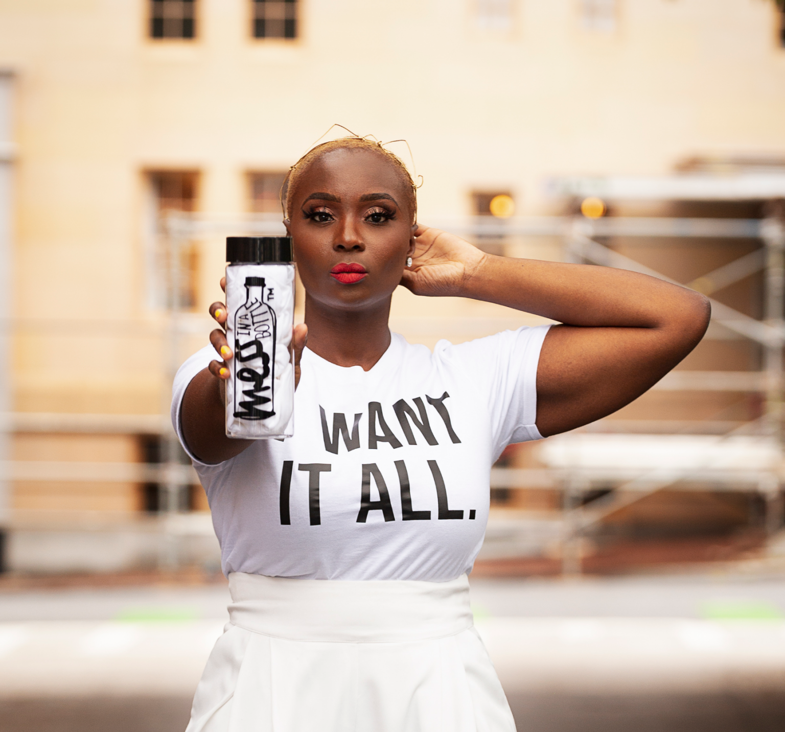 Jamaican-born Kalilah Wright, the founder of MESS in a Bottle