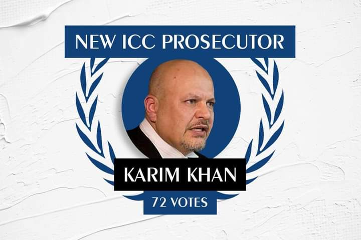 Karim Khan has been voted in as the new International Criminal Court