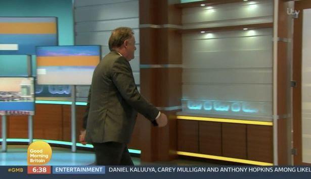 Alex Beresford reacts after Piers Morgan's 'GMB' walk-off