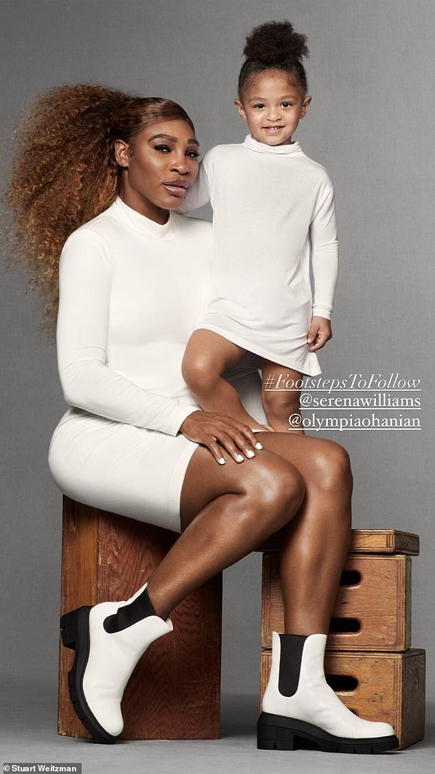 Serena Williams stars with daughter Olympia