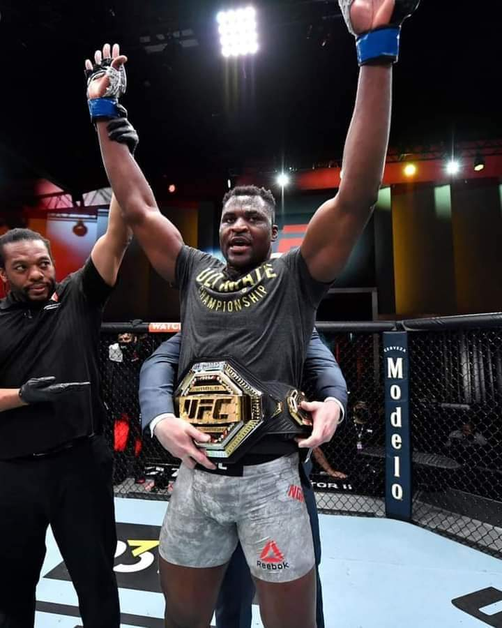 Cameroonian Francis Ngannou folds Stipe Miocic unconscious to win heavyweight title