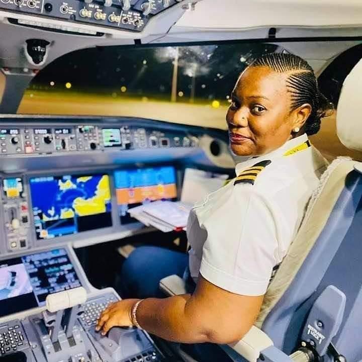 "Meet Tanzanian pilot and First Officer ""FO"" Anna Tusajigwe MWAKASEGE"