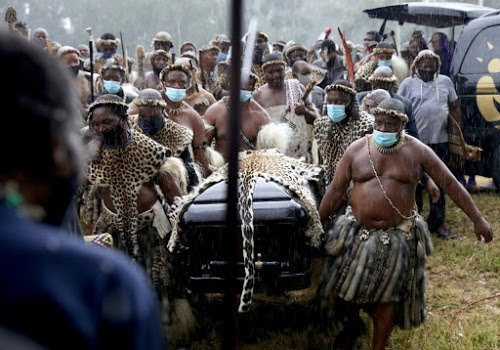 Zulu King Goodwill Zwelithini memorial service