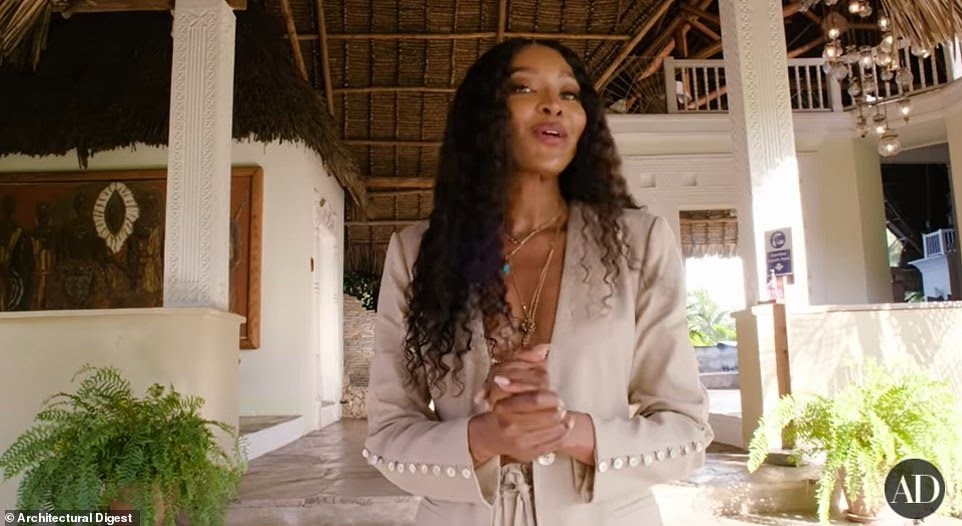 Naomi Campbell unveils her lavish villa in Kenya