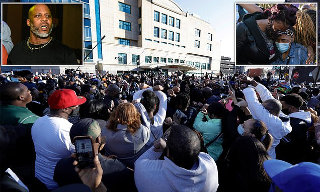 Family and fans hold emotional prayer vigil outside hospital for rapper DMX  Supporters and family of  rapper DMX