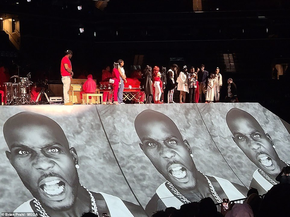 Kanye West and Sunday Service Choir perform at DMX's memorial service