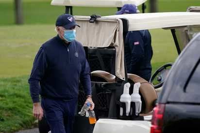 Joe Biden golfed as president for the first time