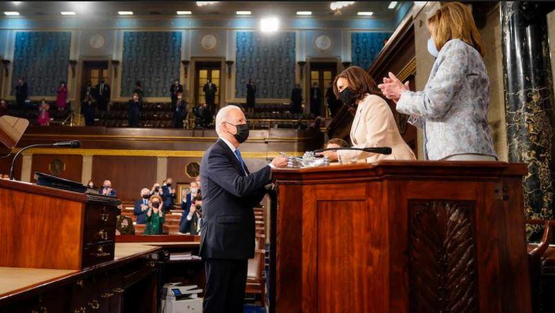 Kamala Harris and Nancy Pelosi make history as the first two women