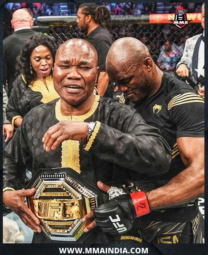 The moment Kamaru Usman brought his father to the ring