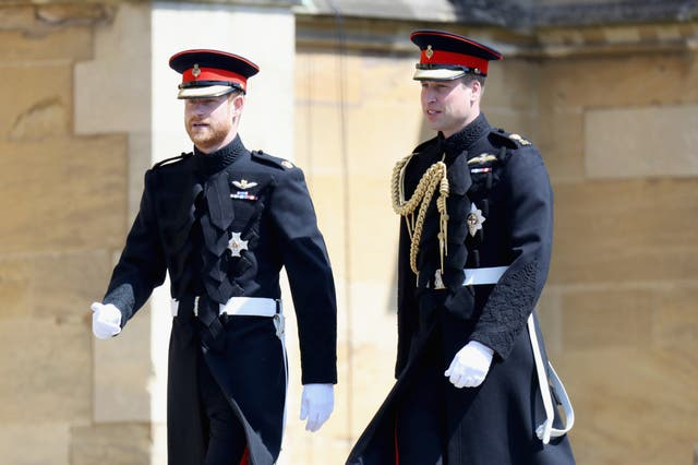 William and Harry to follow Prince Philip's coffin, but separated by their cousin Peter Phillips