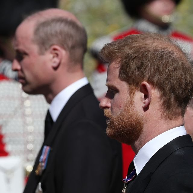 Prince Harry and Prince William left together.
