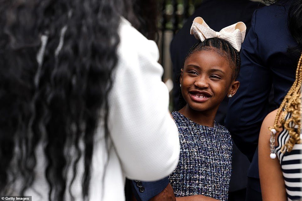 Gianna Floyd, 7, said on the anniversary of her dad's death