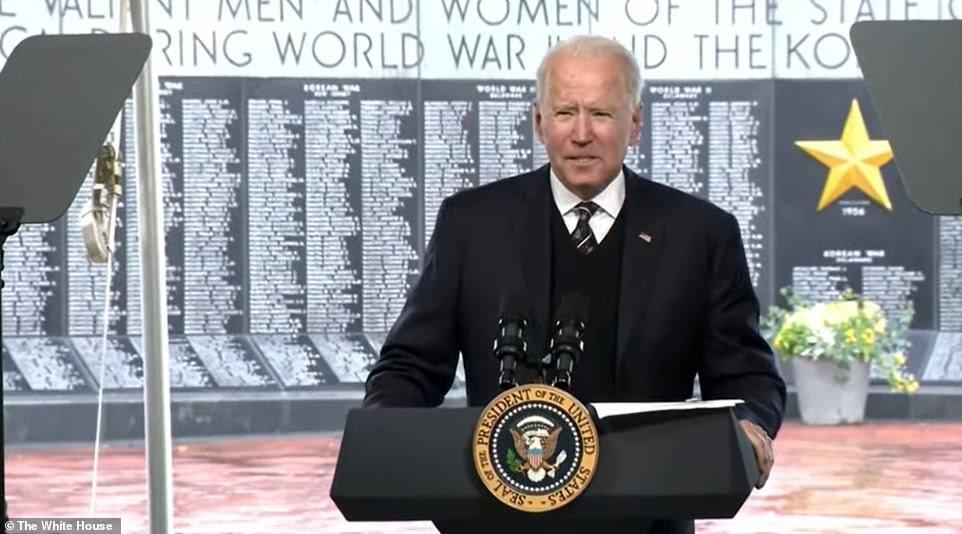 President Joe Biden pays tribute to son Beau
