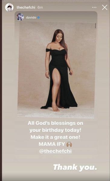Nigerian singer Davido wishes Chioma a happy birthday