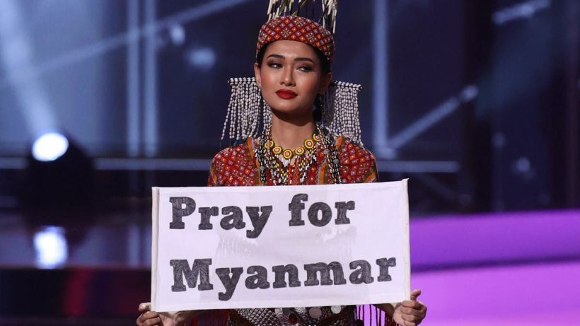 Miss Myanmar won the Miss Universe national costume contest