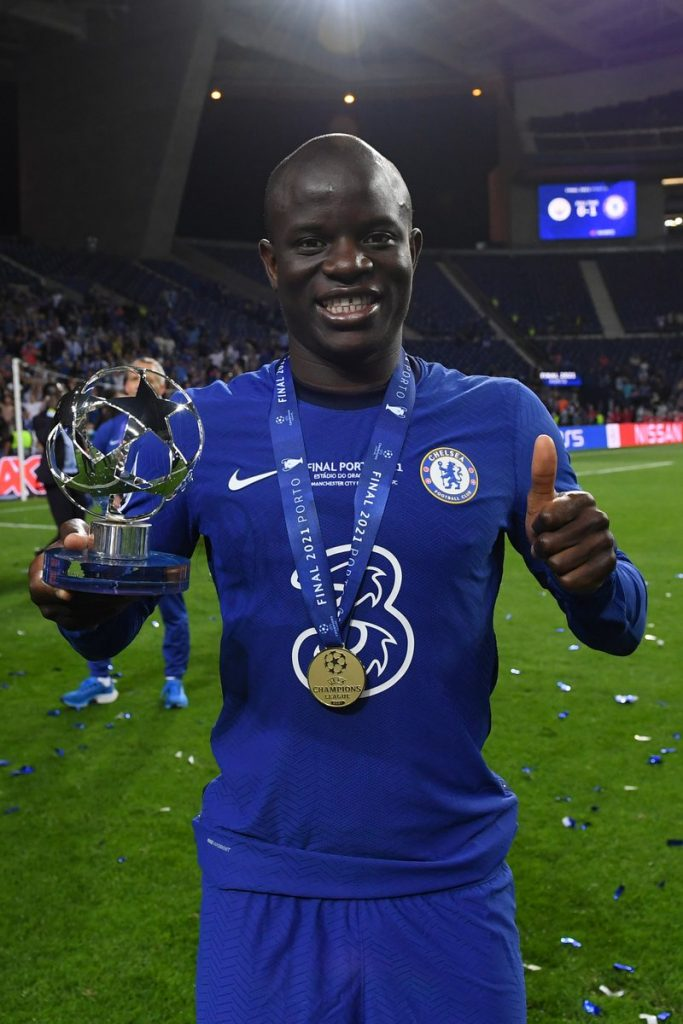 N'Golo Kante Carried Off The Pitch After Carrying Chelsea To Champions League Victory