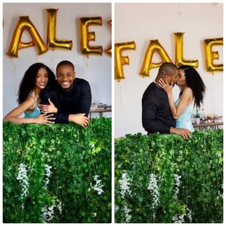 Nigerian Actor Alex Ekubo proposes to his longtime girlfriend, Fancy Acholonu