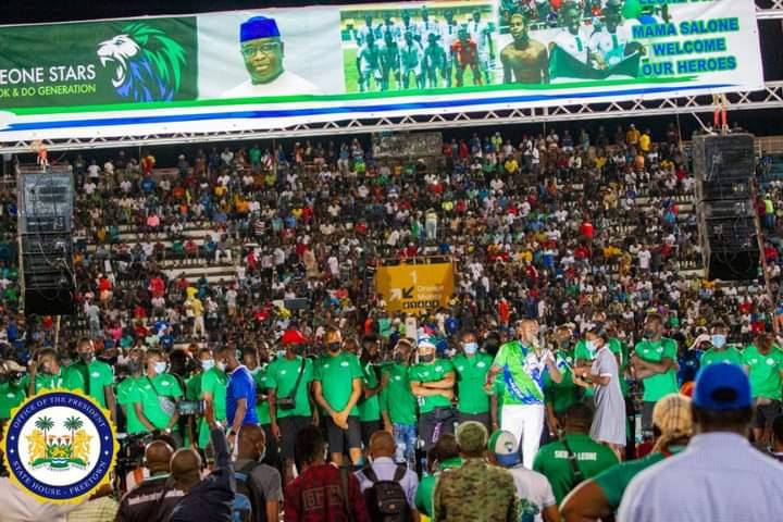 President Bio congratulates Leone Stars on Afcon qualification