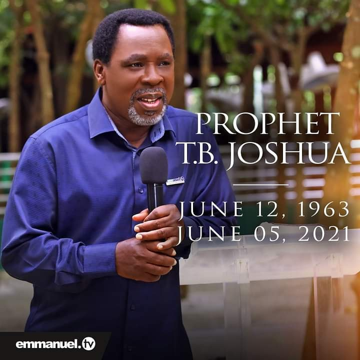 Family plans TB Joshua's burial for July 9