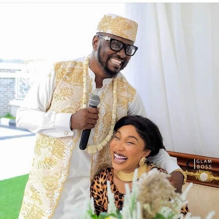 Nollywood actress Tonto Dikeh, and her new baby, Prince Kpokpogri