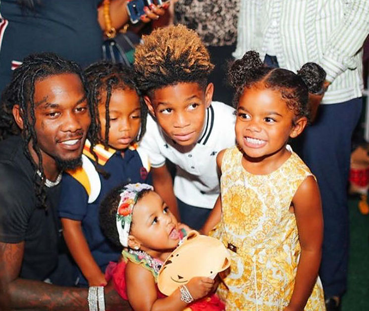 American rapper Offset says Cardi B loves his other children