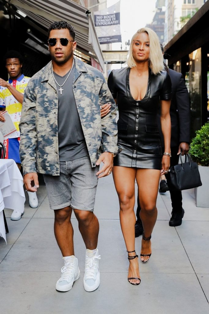 American singer Ciara and Russell Wilson