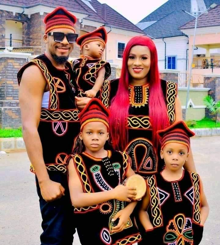 Nollywood actor, Junior Pope and wife Jennifer