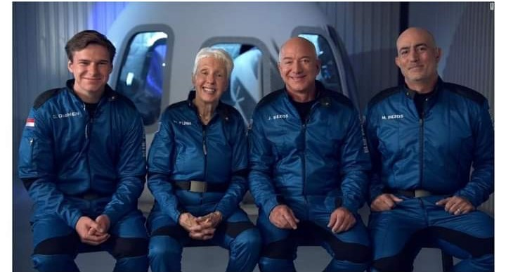 Jeff Bezos and his crew successfully completed a spaceflight