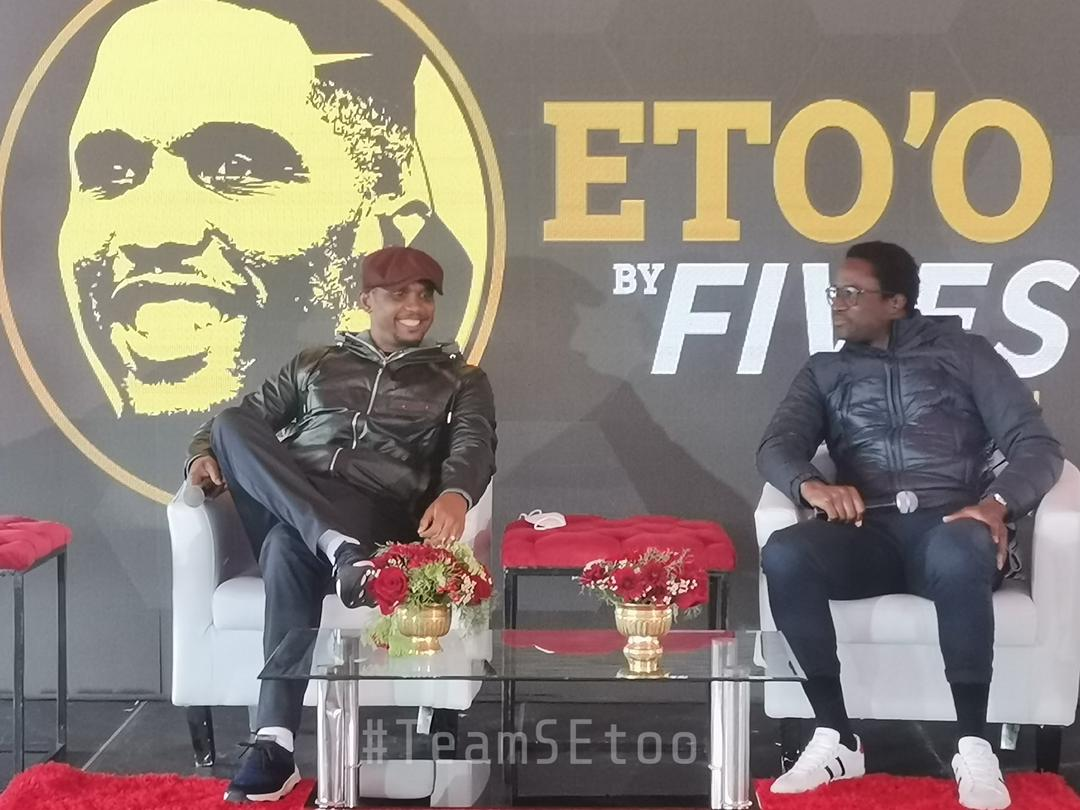 Samuel Eto'o launches legacy pitch in Cape Town South Africa.