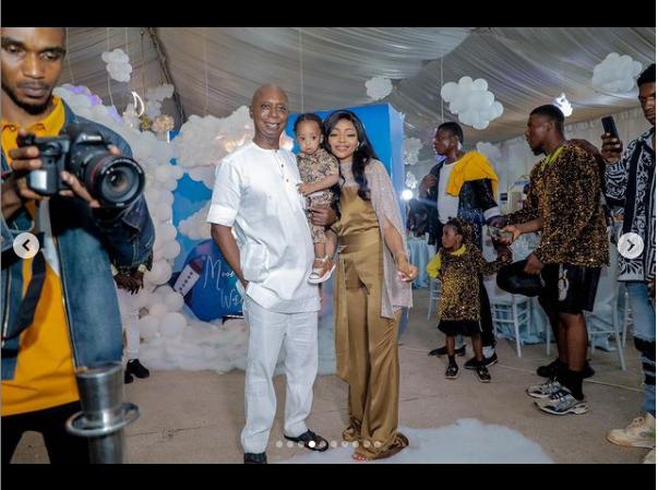 Regina Daniels shares photos from her son's lavish 1st birthday
