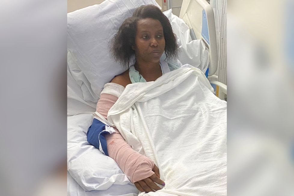 Haiti first lady Martine Moise shares photos of her in the hospital following the attack that killed her husband and injured her.