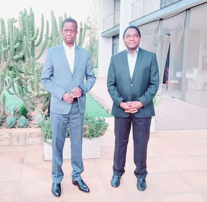 Zambia's Lungu meets President-elect Hichilema
