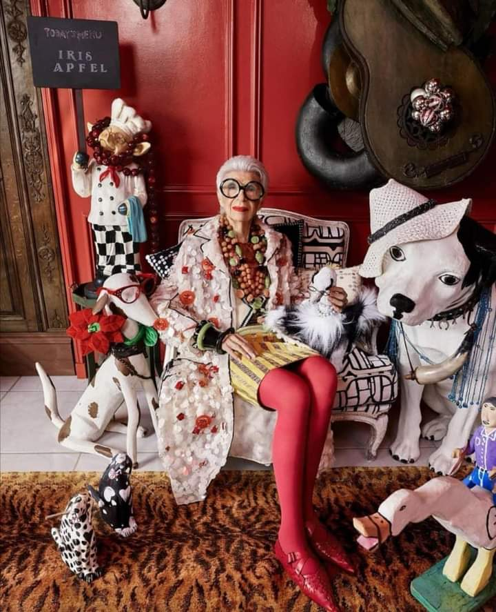 New York American Style Icon, Iris Apfel Celebrates 100th Birthday
