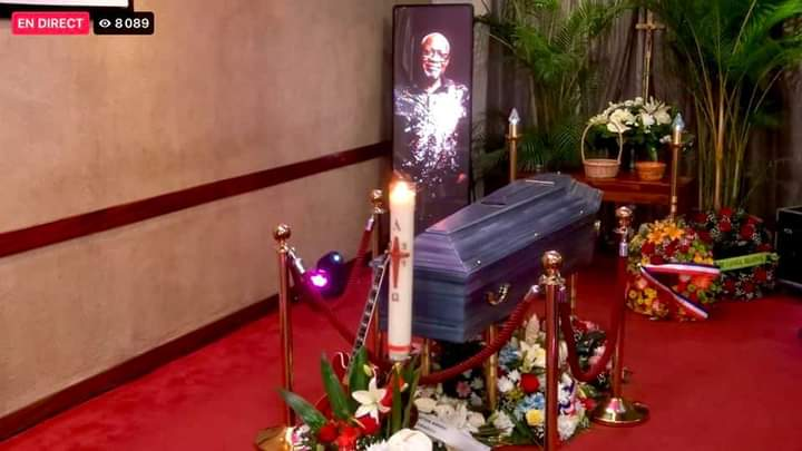 Funeral service of Jacob Desvarieux in Guadeloupe,